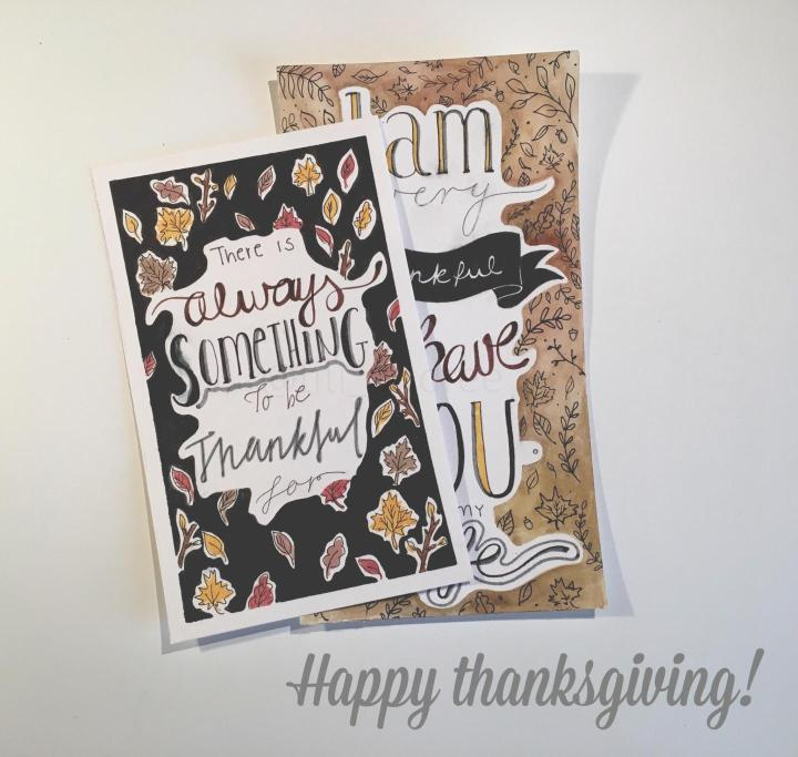 Thanksgiving postcard ideas